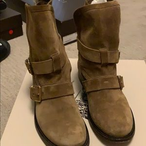 Burberry Tan Suede Bootie Size 8